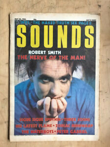 CURE SOUNDS MAGAZINE MAY 24 1986 ROBERT SMITH COVER WITH MORE INSIDE + peter gab
