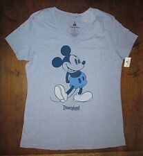 Mickey Mouse Disney Parks Exclusive Women's V Neck T Shirt RARE Size XL Blue