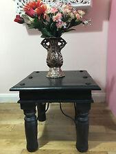 STOOL Coffee Tea Side End Table metal bolts & Metal leg support 100% Mango Wood