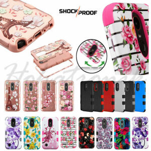 For LG Stylo 5 HYBRID Armor Impact Rubber Shockproof Rugged TPU Phone Case Cover