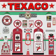 TEXACO OLD GAS PUMP STATION SCENE WALL MURAL SIGN BANNER GARAGE ART 10' X 10'