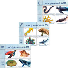 2019 UNITED NATIONS- SPECIES NEW YORK-GENEVA-VIENNA STAMPS MNH