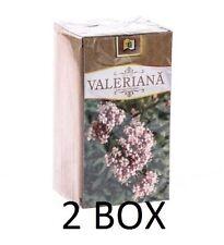 2 X VALERIAN ROOT HERBAL TEA -USED IN INSOMNIA,ANXIETY,VALERIANA OFFICINALIS TEA