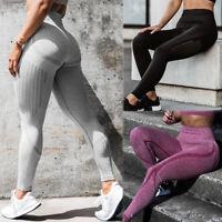 Women High Waist Yoga Pants Seamless Push Up Workout Running Stretch Leggings O4