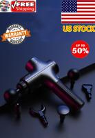 New Massage Gun Percussion Massager Muscle Vibrating Relaxing 5 Heads USA BEST