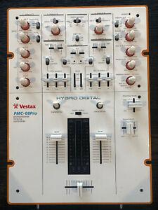 Vestax white PMC 08 pro 2 Channel battle scratch mixer