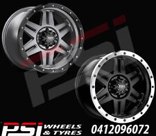 "17"" INCH TUFF T16 WHEELS RIMS 17x8 17x9 6x139 6x114.3 ALLOY 4X4 RANGER COLORADO"