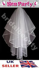 Halloween Bride to Be Hen Night Veil Black Fancy Dress Gothic Costume Blood Mark