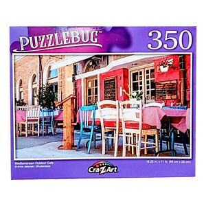 Puzzlebug Mediterranean Outdoor Café, Jigsaw Puzzle by Cra Z Art, 350 Pieces