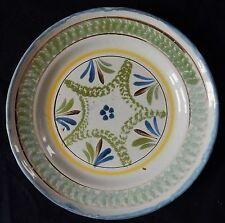 """""""D76"""" : Belle assiette ancienne (décor géométrique) Origine?"""