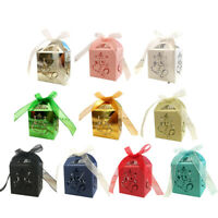 Laser Cut Flower and Elephant Candy Box Wedding Favor Baby Shower