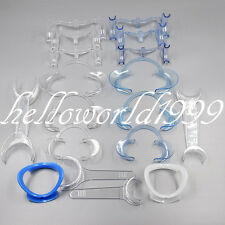18 Pcs Dental Intraoral Cheek Lip Retractor Mouth Opener All Type T C O W 2-head