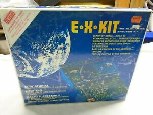 GAKKEN DENSHI BLOCK  E.X. KIT ELECTRONIC ERECTION KIT NEW/WORKING