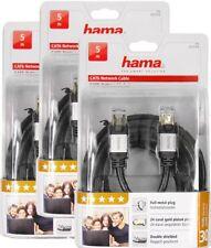3 Stück - Hama CAT6 LAN Netzwerk DSL Kabel Netzwerkkabel STP 5m RJ45 1000Mbits