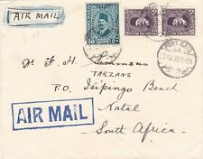 Egypt 1935 Airmail cover sent to South Africa