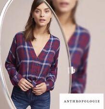 9318f0d16b26 NWT Anthropologie Rails Sloane Buttondown Size XS Plaid Top Shirt