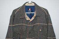 Vintage Chaps Ralph Lauren Mens L/S Insulated Shirt Jacket Snaps Size M GUC