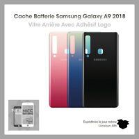 Vitre Arrière Samsung Galaxy A9 2018 (A920) - Noir,Bleu,Rose - Adhesif Inclus