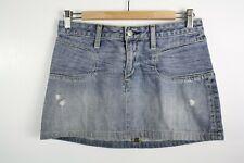 Paper Denim and Cloth Blue Distressed Short Mini Skirt 27