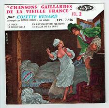 Colette RENARD Vinyle 45T EP CHANSON GAILLARDES Vol.2 LA PUCE - VOGUE 7658