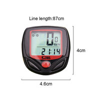 Waterproof Bicycle Speedometer Riding Digital LCD Computer  bike Odometer