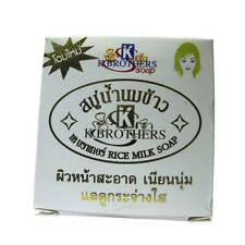 3 x 60 g savon au lait de riz / 3 x 60 g k brothers rice milk soap