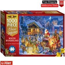 Christmas Hinkler Jigsaw Puzzles 1000 Pieces Set Activity Games For Adult Kids