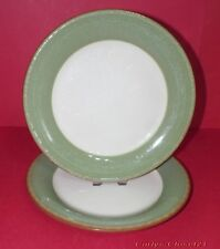 "BHS * 2 Pottery Dinner Plates * Green Brecon Design * 10.5"" (26.5cm) Diameter *a"