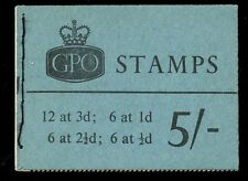 GB QE2 Stitched Booklet 5/- SG H49p with phosphor bands March 1961 fine complete