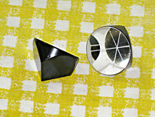Lot of 2, One Inch Cube Corner Trihedral Prism Retro-Reflector - Interferometry