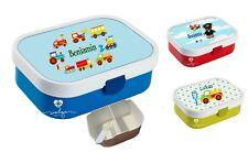 Lunchbox Brotdose Obsteinsatz mit Name Junge viele Motive zur Auswahl