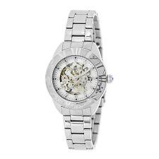 Empress Godiva Automatic MOP White Dial Silver Bracelet Women's Watch EM1101