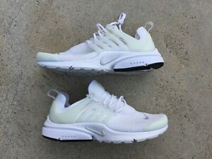 Nike Air Presto Running Shoes Triple White Women Sz 9  W Worn 7.5 Mens FAST ship