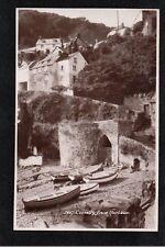 L@@K  Clovelly From Harbour 1949 Postcard ~ Devon ~ GOOD QUALITY CARD