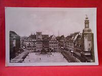 Postkarte Original Reichsmessestadt Leipzig Marktplatz und altes Rathaus