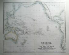 More details for oceania, pacific islands, australia, new zealand, fullarton antique map c1865