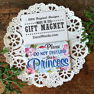 DO NOT DISTURB THE PRINCESS gift Magnet * Indoor New USA * Party Favor DecoWords