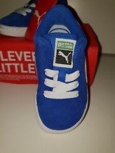 Puma Suede Kids Olympian Blue-White