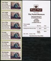 POSTAL MUSEUM BPMA OFFICIAL OPENING INDIVIDUAL COLL STRIPS POST & GO