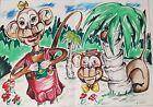 Allen Shapiro A JAY Harry Chess Famed GAY EROTIC Cartoonist Art Cartoon Monkeys