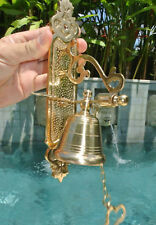 Front Door Bell pull chain heay brass POLISHED vintage style 26cm screw outdoor