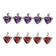 10pcs Bulk Red Purple Enamel Color Cremation Urn Keepsake Locket Heart Shape