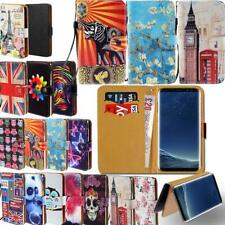 Leather Smart Stand Wallet Cover Case For Samsung Galaxy SmartPhones
