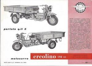 Moto Guzzi ercolino 192 cc 1957 / ´58 Original Prospekt brochure