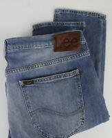 LEE LUKE Men's W34/L32 Stretchy Slim Fit Fade Effect Blue Jeans 24711-JS