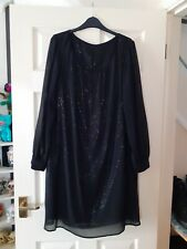 Black long sleeve sequined dress from Pepperberry Curvy (18)