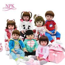 Handmade Full Silicone Body Baby Dolls Newborn Reborn Girl Doll Girl Xmas Gifts