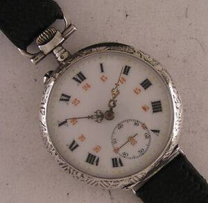 AMAZING Silver Case 120 Years Old Cylindre 1900 French Wrist Watch A+ Serviced
