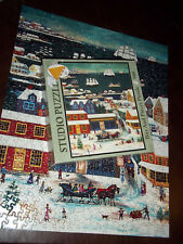 Bits and Pieces Winter in Nantucket Harbour Jigsaw Puzzle 500 Pieces