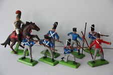 Vintage BRITAINS DEETAIL French & British NAPOLEONIC 8 Soldiers & Cavalry 7959